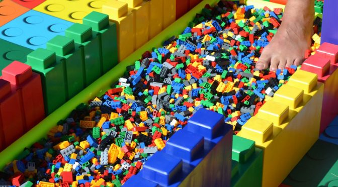 Apparently, Walking Over A Path Laid With LEGO Bricks Is A Thing
