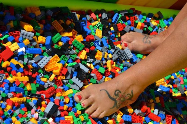 Walking Over LEGO Bricks