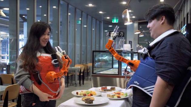 Arm-A-Dine On-Body Robotic Arms
