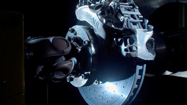 Bugatti 3-D Printed Titanium Brake Caliper Tested