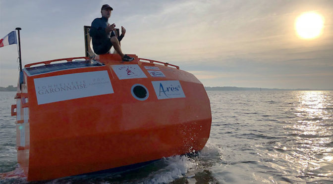 71-Year-Old French Is Crossing Atlantic In A Barrel-Like Vessel