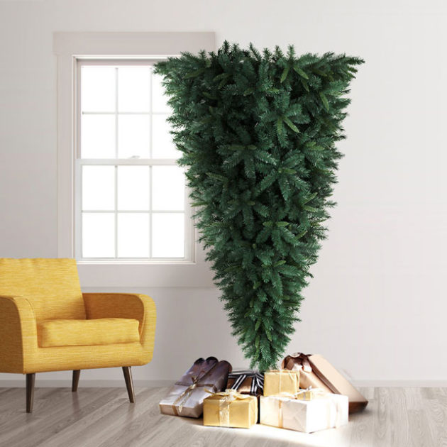 Knocked Upside Down Christmas Tree