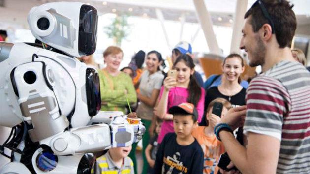 Russian Man In Robot Suit