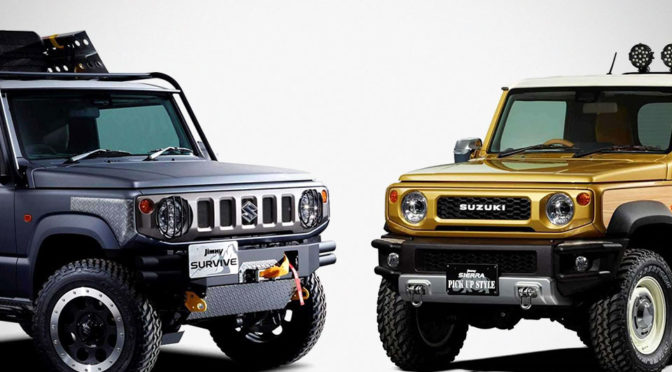 Suzuki Had Us Going Ga-Ga With A Jimny Pickup Truck And SUV Concepts