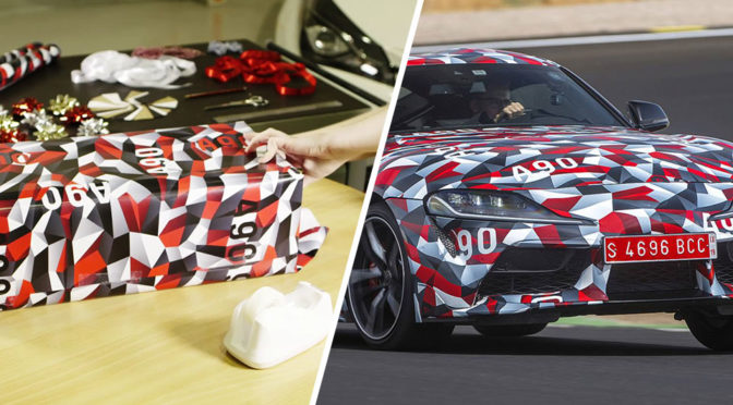 Toyota Is Selling Toyota Supra-inspired Camo Wrap Wrapping Paper