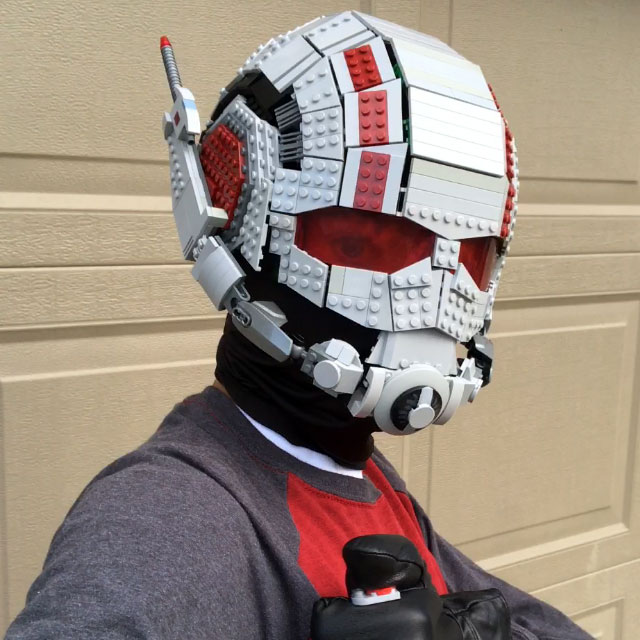 Wearable Ant-Man LEGO Helmet by Brickatecture moc industries
