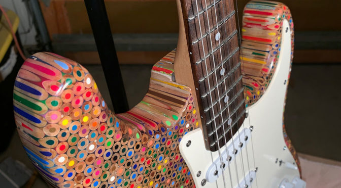 Dude Created A Custom Electric Guitar With 1200 Colored Pencils
