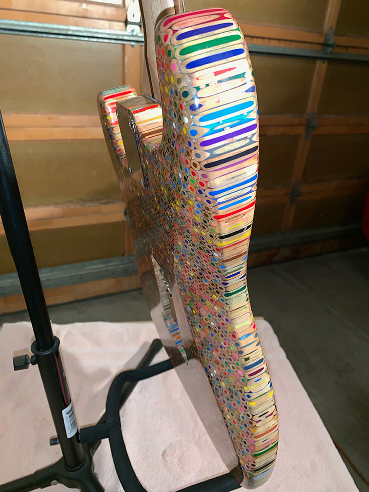 1200 Colored Pencil Electric Guitar
