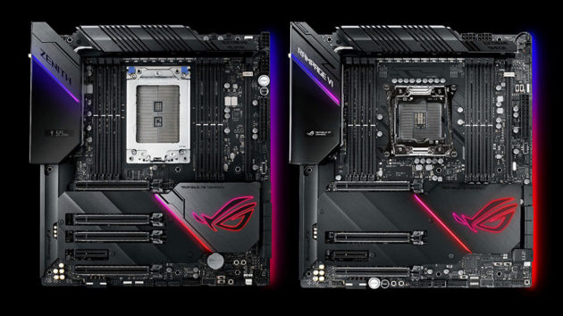 ASUS ROG Zenith Extreme Alpha and Rampage VI Extreme Omega motherboards