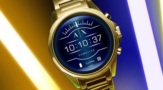 Armani Exchange's First Touchscreen Smartwatch Is Actually Affordable
