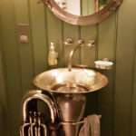 Someone Repurposed Brass Tuba Into A Sink And It is Cool As F*@k