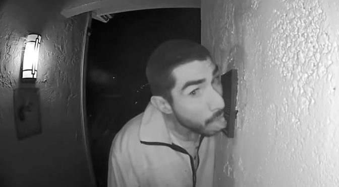 California Man Caught Licking Doorbell