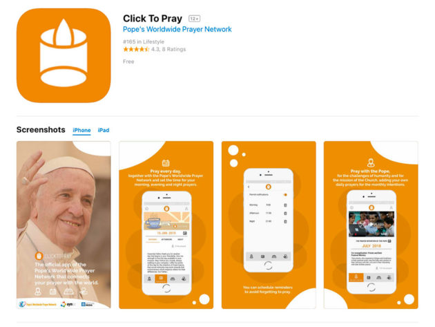 Click To Pray Smartphone Application