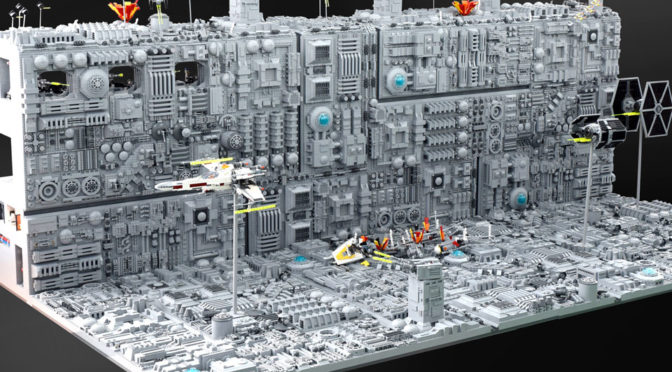 Iconic Death Star Trench Run Scene Recreated With LEGO Has An Astonishing Level Of Details
