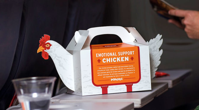You Don't Pet Popeyes' Emotional Support Chickens, You Eat 'Em