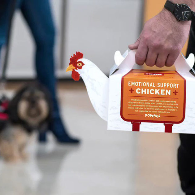 Popeyes Emotional Support Chicken Takeout Box