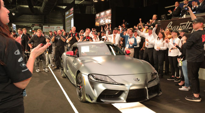 First Production 2020 Toyota Supra Sold For A cool $2.1M In An Auction