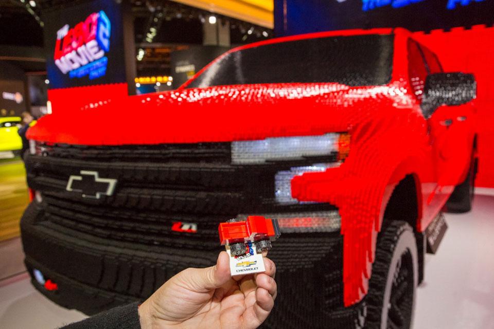 Full-size LEGO 2019 Chevrolet Silverado