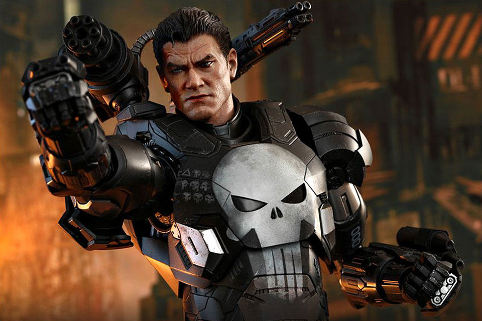 Hot Toys Marvel Future Fight Punisher War Machine Figure
