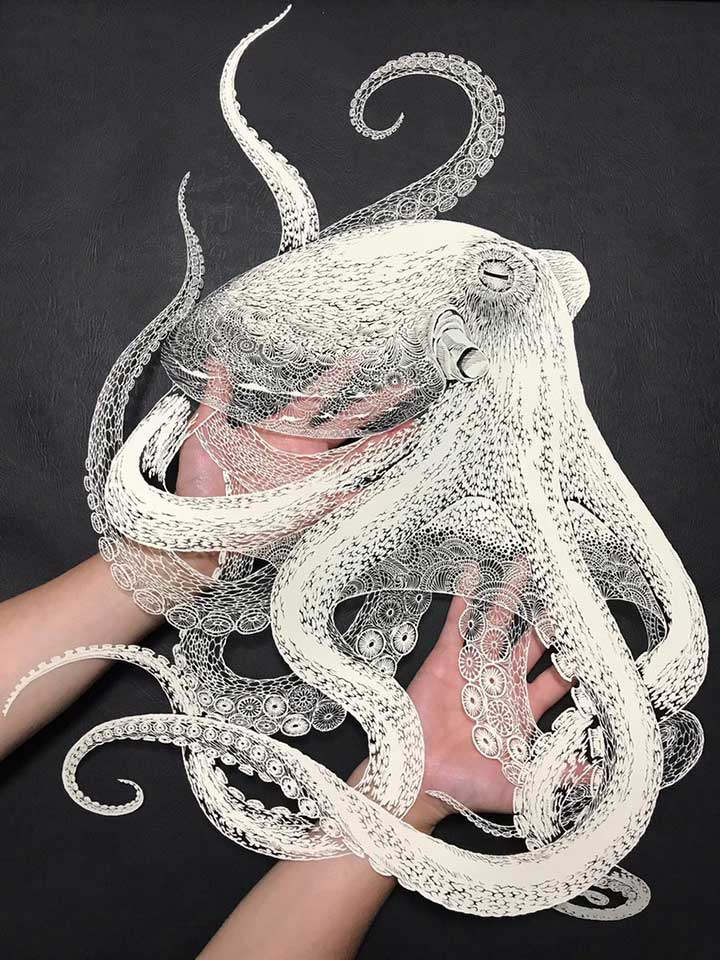 Masayo Fukuda Kirie Paper Cut Octopus