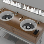 A Bathroom Sink Setup That Mimics A DJ Console Is Absolutely Dope!