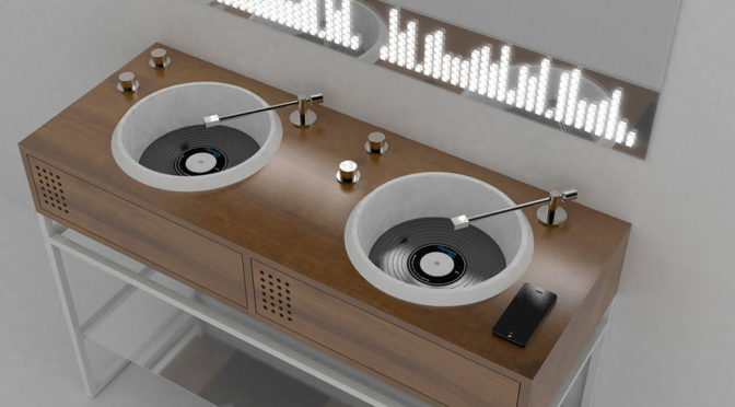 Olympia Ceramica Vinyl Bathroom Sink