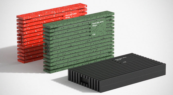 Brilliant Concept Portable Hard Drive's Enclosure Is Also Its Packaging