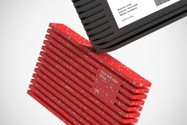 Portable Hard Disk Drive Stripe