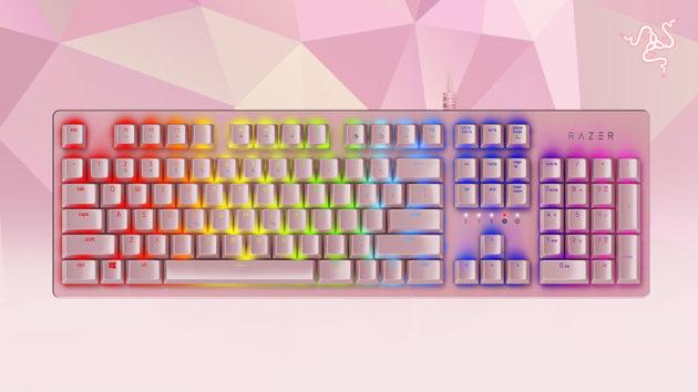 Razer Huntsman keyboard Quartz Pink edition