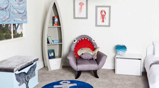 The Great Grey Shark Chair Is No <em>Baby Shark</em>, But Cool Nevertheless