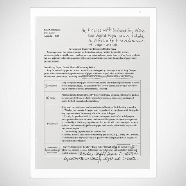 """Sony DPT-RP1 13"""" Digital Paper in White"""