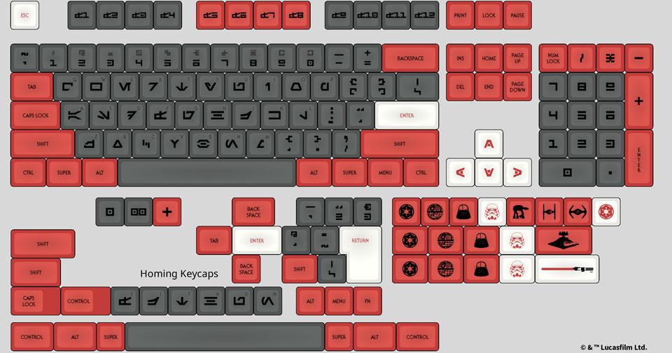 Star Wars Galactic Empire DSA Keycap Set