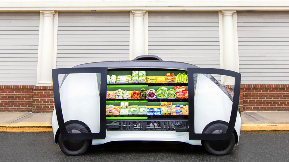 Stop & Shop Self-driving Grocery Vehicles