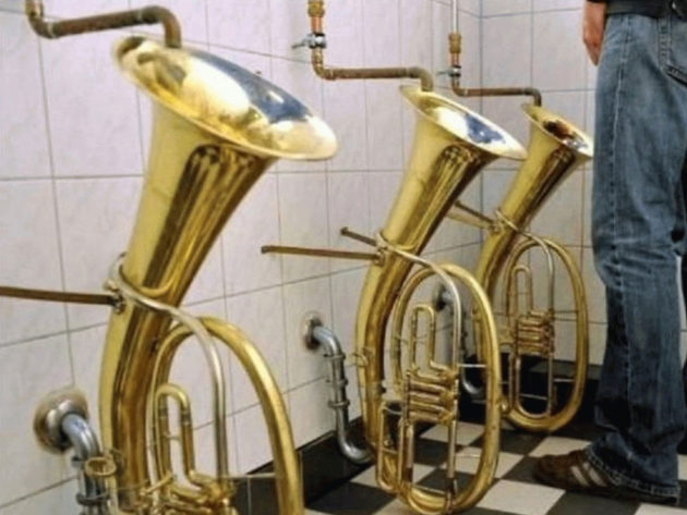 Three Tenor Horns Urinals