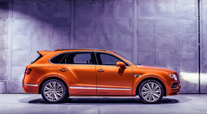 The New Bentley Bentayga Speed Is The World's Fastest Production SUV