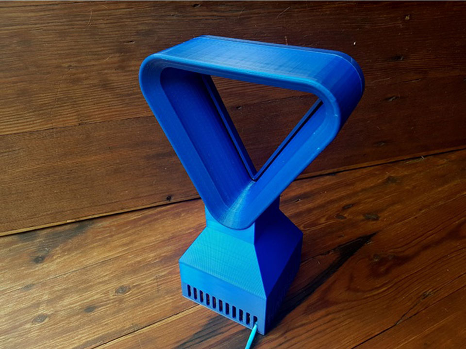 3D Printed Triangular Bladeless Fan