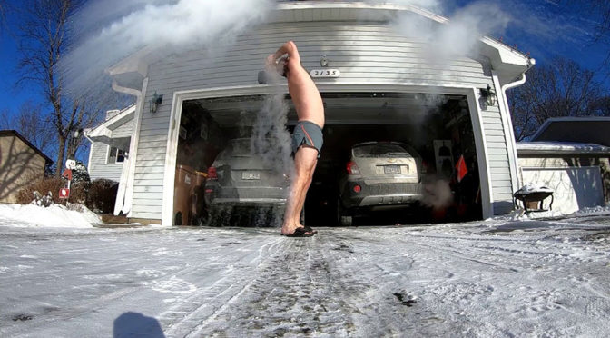 Boiling Water In Polar Vortex Trick Did Not Go As Planned For This Man