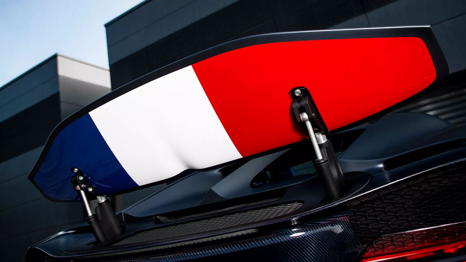 Bugatti Slaps French Colors On Limited Edition Chiron's Spoiler For The Marque's 110 Years | SHOUTS
