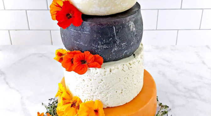 Five-tier Cheese Wedding Cake from Costco