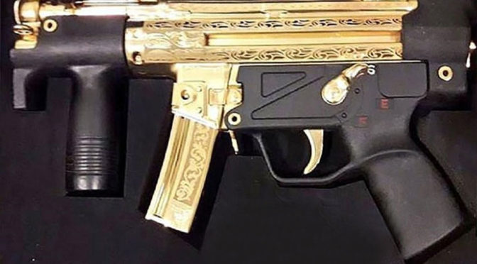 Gold-plated Heckler & Koch MP5