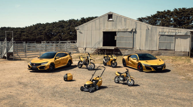 Honda Australia Celebrates 50 Years With A Line Of Gold Products