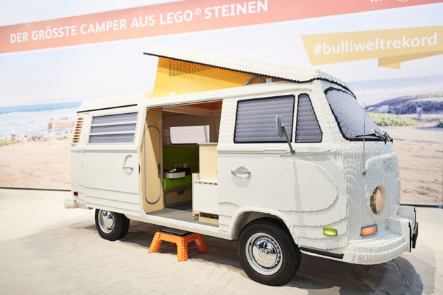 Life-size LEGO VW T2 Camper Van