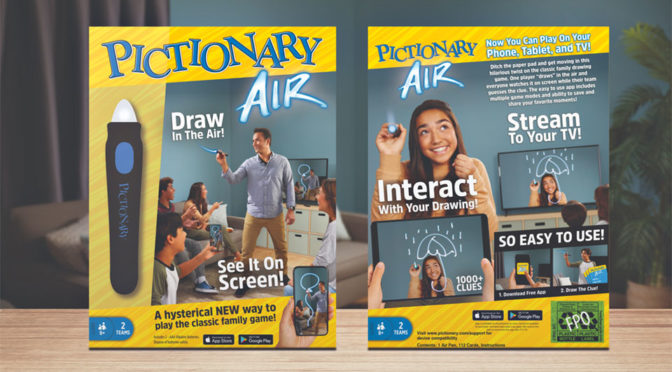 Mattel Pictionary Air Family Game