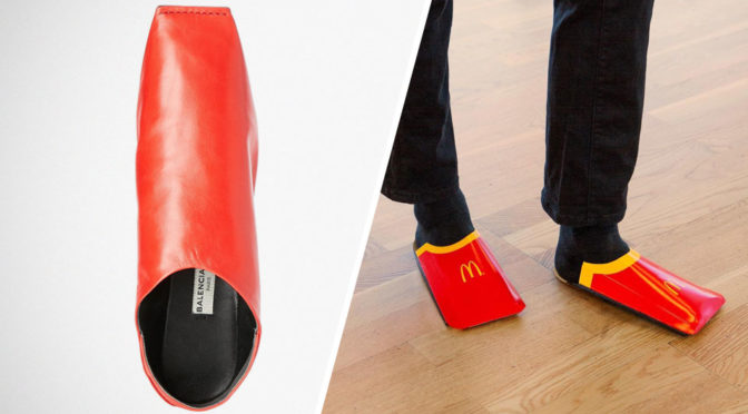 McDonalds Sweden French Fry Carton Shoes