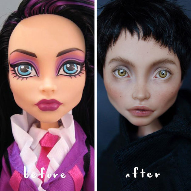 Olga Kamenetskaya Doll Mods and Repainting