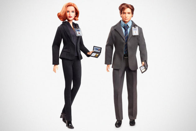 The X-Files Mulder and Scully Barbie Dolls