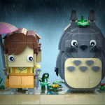 Iconic <em>Totoro</em> In The Rain Scene Recreated With LEGO BrickHeadz