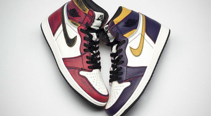 "Air Jordan 1 ""Bulls vs. Lakers"": Kicks That Turn From Lakers To The Bulls"