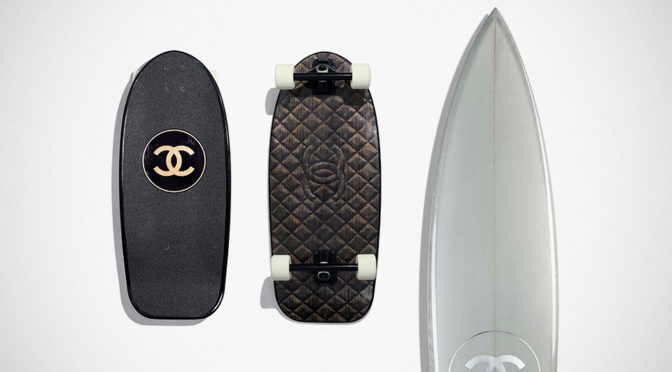 Chanel Skateboard and Surfboard
