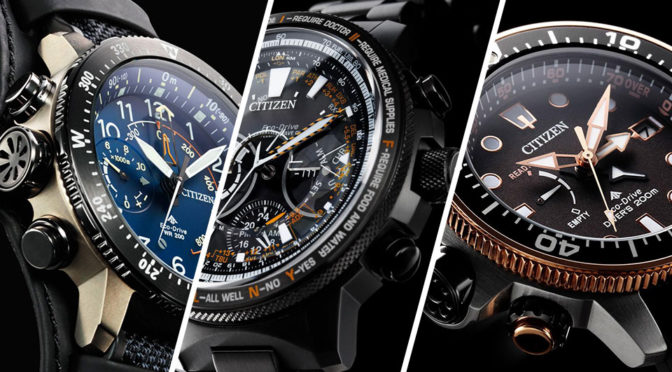 Citizen Unveiled Limited Edition PROMASTER Watches At Baselworld